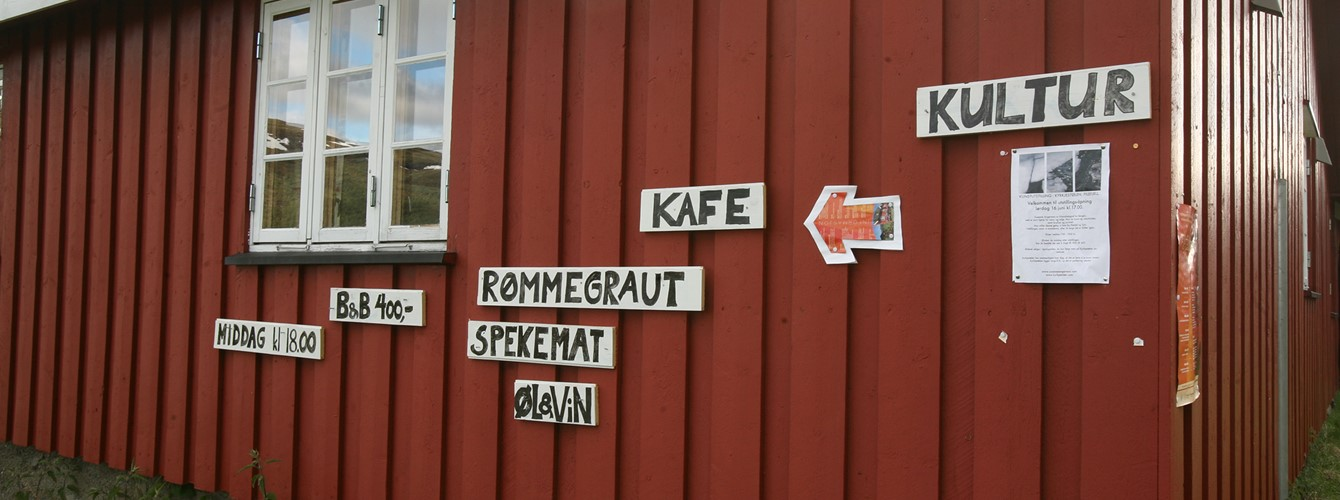 You will get traditional Norwegian food (stands on the signs) at Kyrkjestølen.